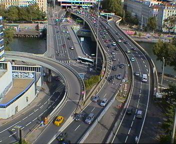 Caméra autoroute à Lyon Perrache à l'entrée Sud du Tunnel sous Fourvière, en direction de Marseille